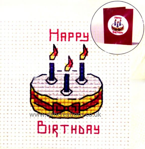 Birthday Cake Card Cross Stitch Kit